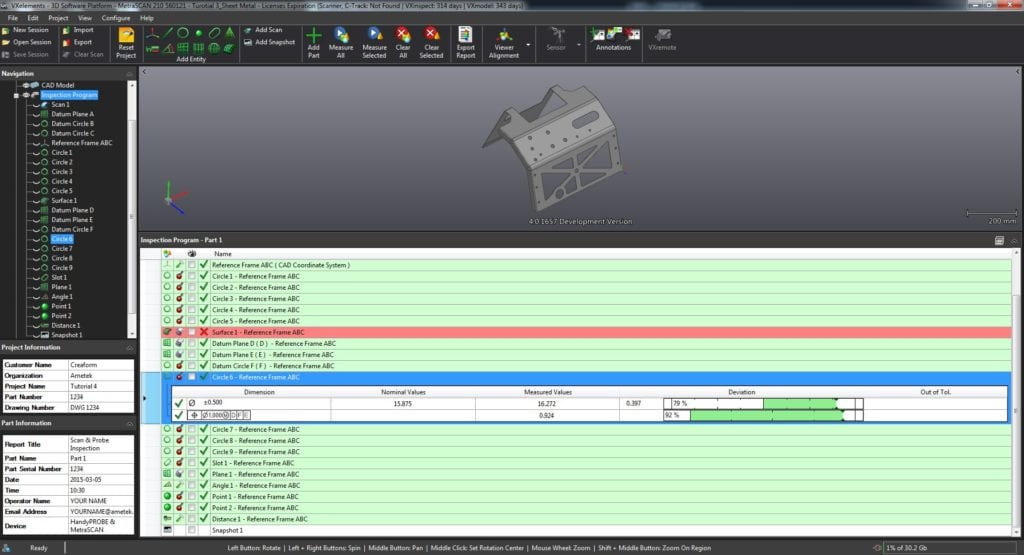 VXinspect In-Production Inspection Report