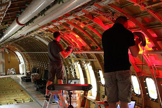 Aircraft Interior 3D Scanning Reverse Engineering Inspection