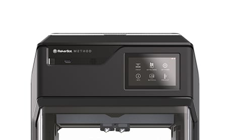 MakerBot Method performance 3D printer touchscreen interface controls