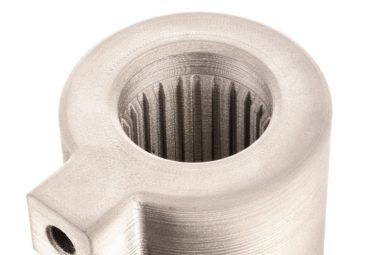 Desktop Metal 3D printed internal channels Helical Heat Exchanger Angle