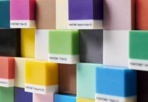 3D Printed Cube Staggered Wall Pantone