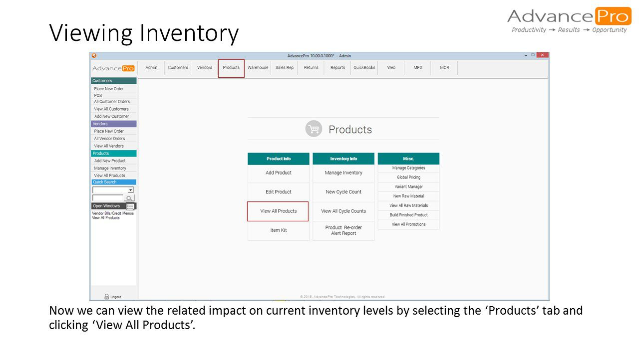 Viewing Inventory