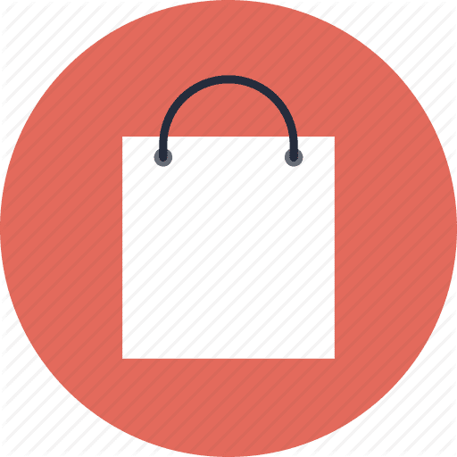shopping bag purchase package retail shop commerce sale buy product order delivery commercial marketing consumerism merchandise flat design icon 512