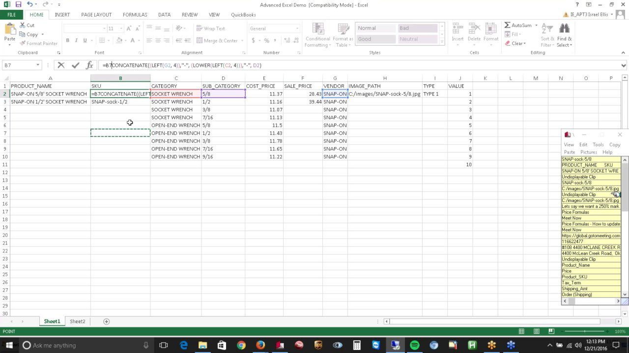 Excel Functions for Advanced users ythumbnail