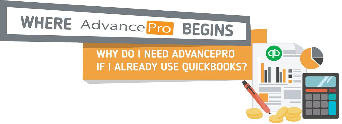 The all-new inventory management Quickbooks integration available from AdvancePro
